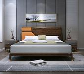 B802#瑞德家居 东迪 北欧村落气概 洋蜡木框架 1.5m 床