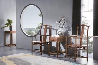812#瑞德家居 系列 新中式气概 全实木 休闲椅