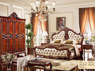 深法系列 橡胶木框架+松木内板玫瑰金床尾凳