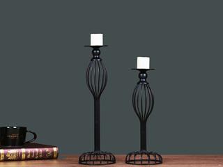 豪华创意 复旧复旧 金属欧式烛台