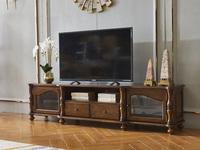 维格兰 美式气概 金丝楠木色 实木 电视柜