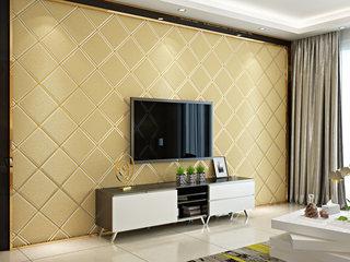 【包邮】繁复寝室书房客堂电视背景 鹿皮绒墙纸墙纸