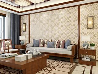 【包邮】繁复寝室书房客堂电视背景 鹿皮绒墙纸