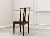 檀宫御品 新中式 优良入口小乌金木 FA1901 餐椅