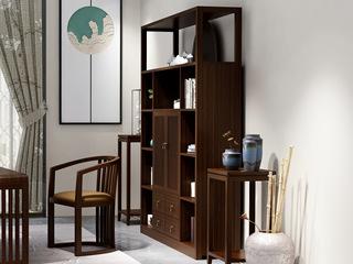 新中式 优良入口小乌金木 FA1901 书椅
