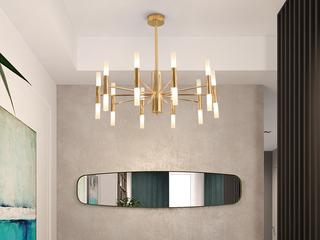 北欧气概 铁艺电镀+亚克力8015-20/小金色吊灯(含G4光源3w白光)
