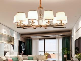 简欧 玻璃+S金2702-10金色吊灯(含E14尖泡7W暖光)