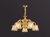 凯顿星月 欧式MC051-5D铜灯 5头吊灯(包邮)(不含光源)
