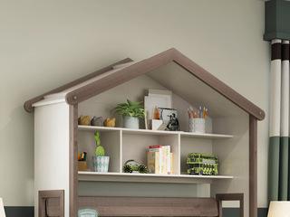 简美风格 主材北美白蜡木 新西兰松木 深咖色 象牙白 通用展示架(适用1.5m儿童床)