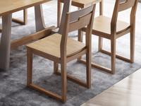 荣之鼎 北欧气概 泰国入口橡胶木 实木餐椅