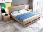 荣之鼎 北欧气概 泰国入口橡胶木 松木床板条 1.8*2.0米床