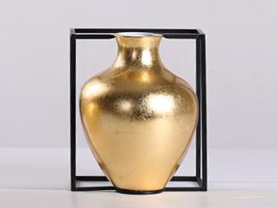 新中式气概 陶瓷+铁艺 花器