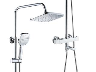 【包邮 快递抵家(偏僻地域除外)】典范款恒温淋浴器套装 酷方形 银色