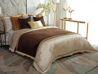 烟黛茗 床品四件套(含1对枕套、1条被套、1条床单)(不含芯)