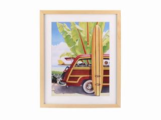 入口画芯+实木框架 挂画