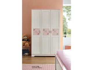 古代繁复 主材樱桃木+洋蜡木 大宝环保水性漆 全实木三门衣柜