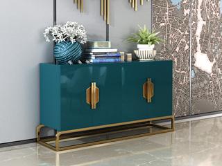 轻奢 高密度板 1.5米 蓝色 餐边柜