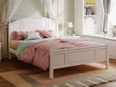 芝华仕 古代繁复 弧屏1.2米 实木 儿童板木床(含实木床排 床屏格式与1.5米有差别)