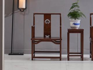 中式风格 北美进口白蜡木 胡桃色 椅子