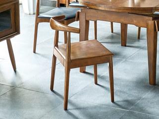 北欧风格 精选北美进口白蜡木 胡桃色 实木座板 牛角椅