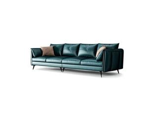 极简风格 头层真皮 俄罗斯进口落叶松坚固框架 四人沙发