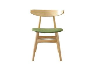 北欧风格 原木工艺 北美进口白蜡木 清晰绿 元气餐椅