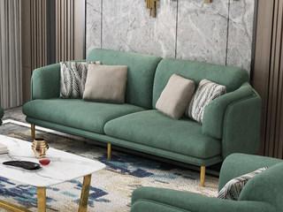 现代简约 亲肤涤棉绒面 全拆洗结构 小户挚爱 三人沙发