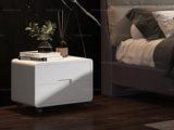 卡罗亚 现代简约 环保油漆 板木结构 万向胶脚 白色床头柜