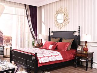 简美风格 北美进口红橡木 自然纹理色泽 诠释经典 美式1.8米床