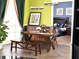 北美进口红橡 嘉宝莉环保漆 简美风格 1.8餐桌
