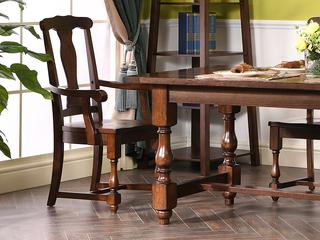 北美进口红橡 嘉宝莉环保漆 简美风格 艾米无扶手餐椅