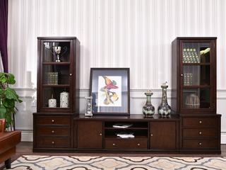 北美进口黄杨 嘉宝莉环保漆 简美风格 美式电视柜组合电视柜(居中)