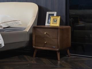 北美进口白蜡木系列床头柜