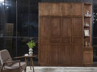 北美进口白蜡木系列 4门衣柜