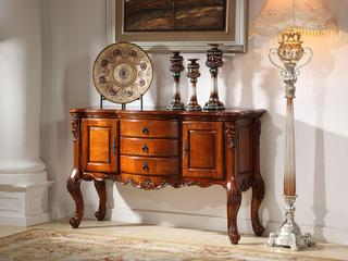 进口桃花芯木 美式风格 手工雕花餐边柜酒柜