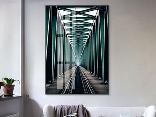 延伸 轻奢客厅装饰画玄关大幅画 北欧餐厅挂画竖版走廊挂画