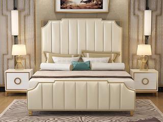 艾伦016轻奢皮艺1.8*2.0米高箱床