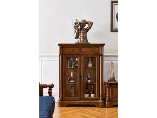 美式风格 实木 双门酒柜