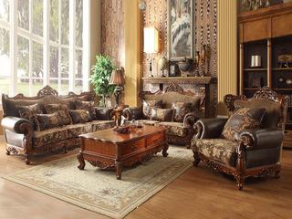 艾菲尔色皮配布沙发组合1+2+3