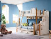 榕瀚 地中海实木儿童床501# 1.5m组合床(不含梯柜和拉床)