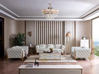 慕梵希 轻奢 (1+2+3) 样色 高端纳帕皮 北美进口落叶松框架 C33沙发组合