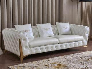 慕梵希 轻奢3人位样色 优质头层黄牛皮  北美进口落叶松框架 C33沙发
