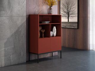 意式极简装饰柜 TY10哑光红装饰柜