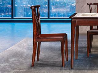 新中式轻奢 非洲乌金木KY208餐椅