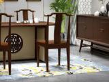 檀宫御品 新中式 优质进口小乌金木 FA1902 餐椅