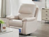 芝华仕 头等舱头层牛皮客厅真皮功能沙发 手动可摇可躺 小户型组合芝华仕 单人位象牙白(此款不含抱枕)(有短途物流费)