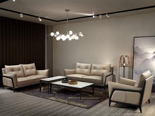 意式极简沙发 1805B罗宾 皮艺单人沙发