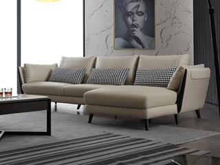 意式极简沙发 1810B皮艺转角沙发(3+左贵妃)