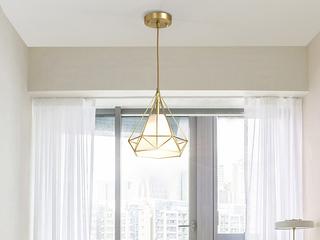 北欧 铜本色8824-1餐吊灯(含E27龙珠泡暖光7W)