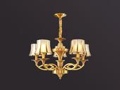 凯顿星月 欧式MC051-5H铜灯 5头吊灯(包邮)(不含光源)